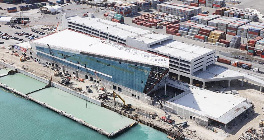 Royal Caribbean Terminal A at Port Miami Roofing